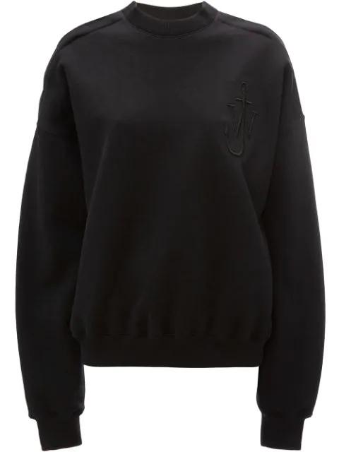 Jw Anderson Oversized Cold Shoulder Sweatshirt In Black