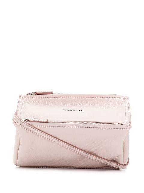 Givenchy 'Mini Pandora' Sugar Leather Shoulder Bag - Pink