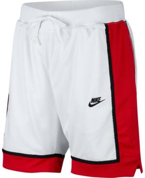 Nike Men's Mesh Basketball Shorts In White/Red