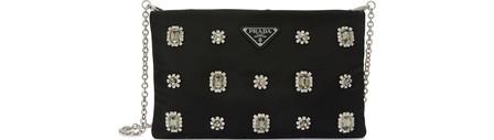 Prada Tessuto Soft Cross Body Bag In Black