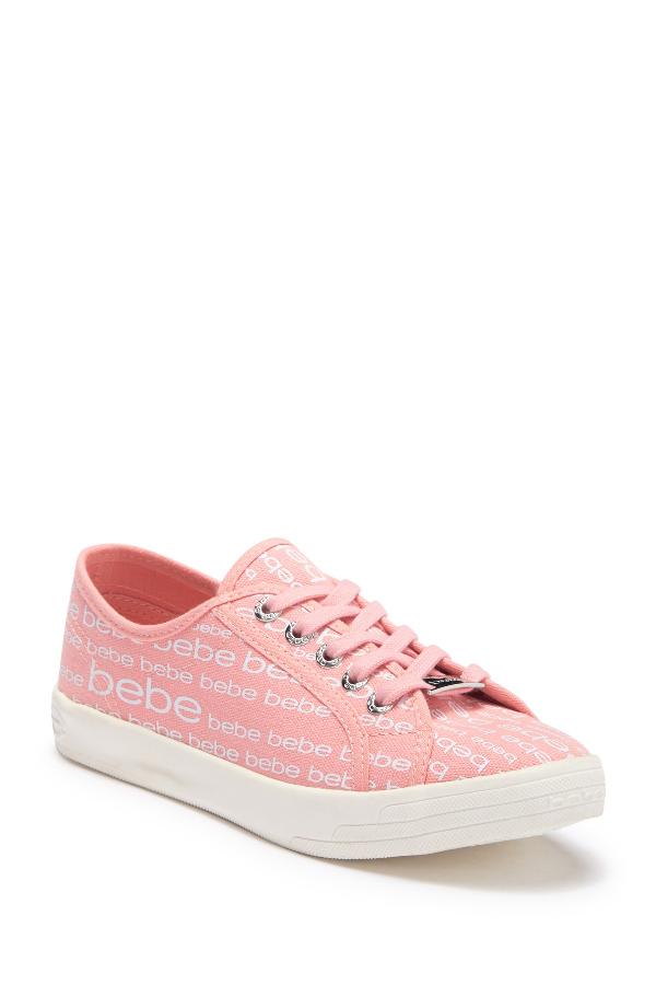 Bebe Logo Sport Sneaker In Lt Pink Cn