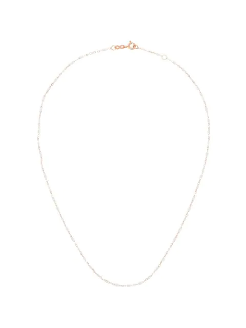 Gigi Clozeau 18k Rose Gold 42 Cm Beaded Necklace In White/rose Gold