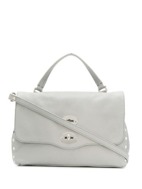 Zanellato Postina Medium Shoulder Bag In Grey