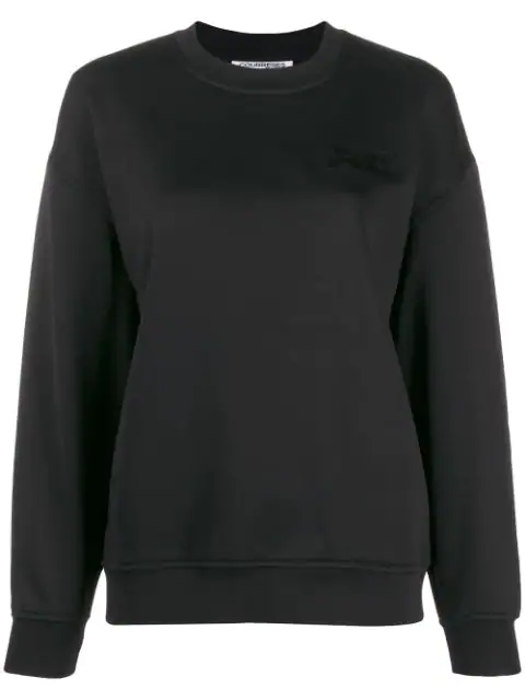 CourrÈGes Embroidered Logo Sweatshirt In Black