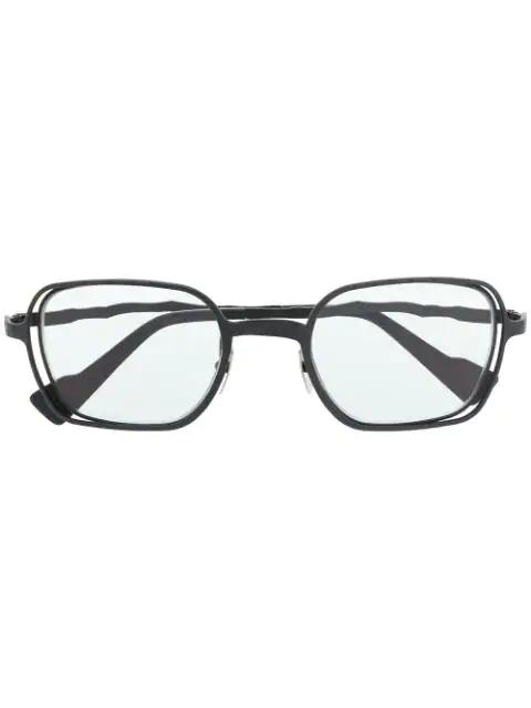 Kuboraum Squiggly Arm Sunglasses In Grey