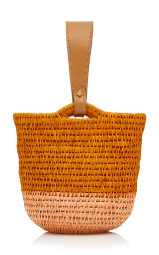 Khokho Zandi Leather-trimmed Straw Bucket Bag In Multi
