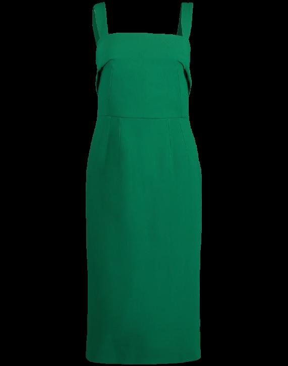 Dolce & Gabbana Square Neck Dress In Green