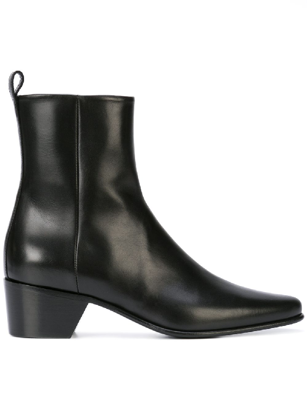 Pierre Hardy Reno Leather Ankle Boots In Black