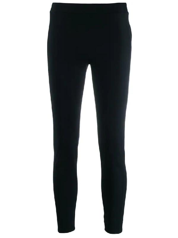 Moncler High-Rise Cropped Leggings In Black