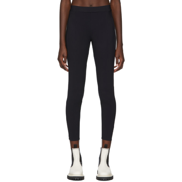 Moncler High-rise Cropped Leggings In Black