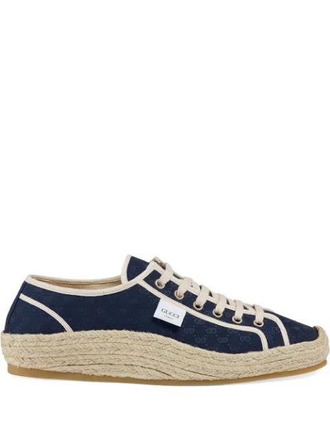 Gucci Mini Gg Espadrille Sneaker In Blue