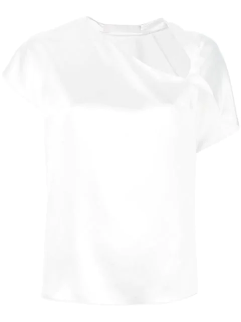 Dion Lee Knot Detail Blouse In White