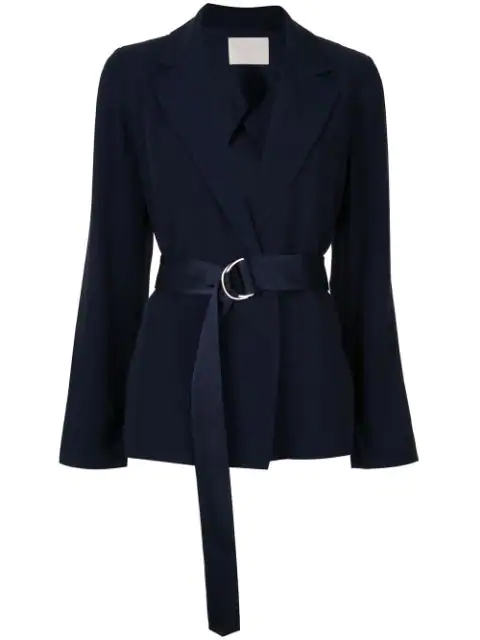 Dion Lee Wrap Style Blazer In Navy