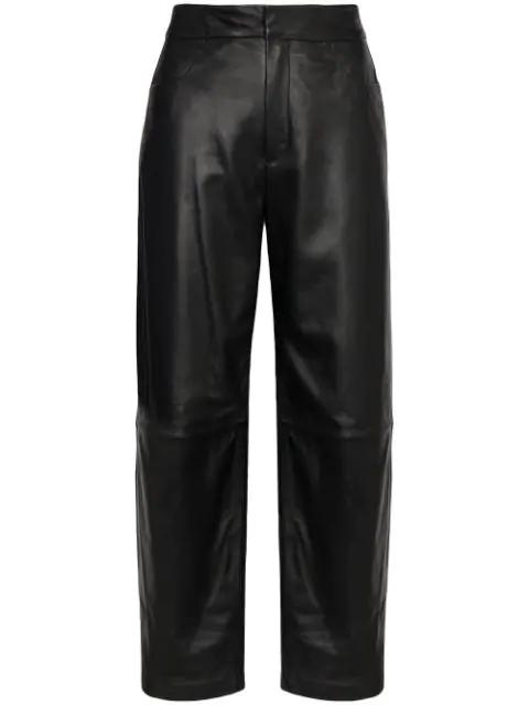 Totême Novara High-rise Wide-leg Trousers In Black