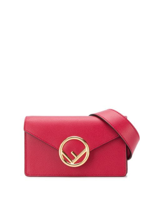 98968cbf683 Fendi Ff Logo Plaque Belt Bag - Red