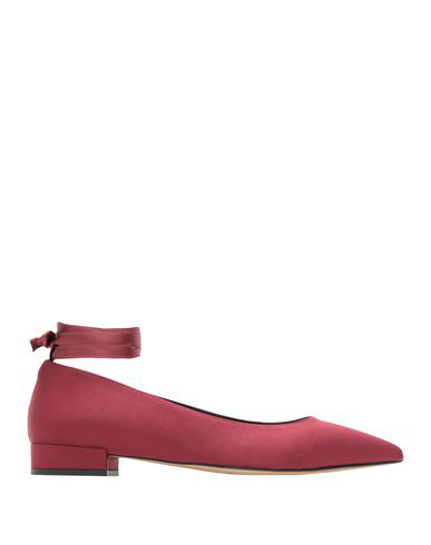 8 By Yoox Ballet Flats In Maroon