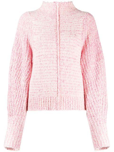 Isabel Marant Edilon Wool-Blend Jumper In Pink
