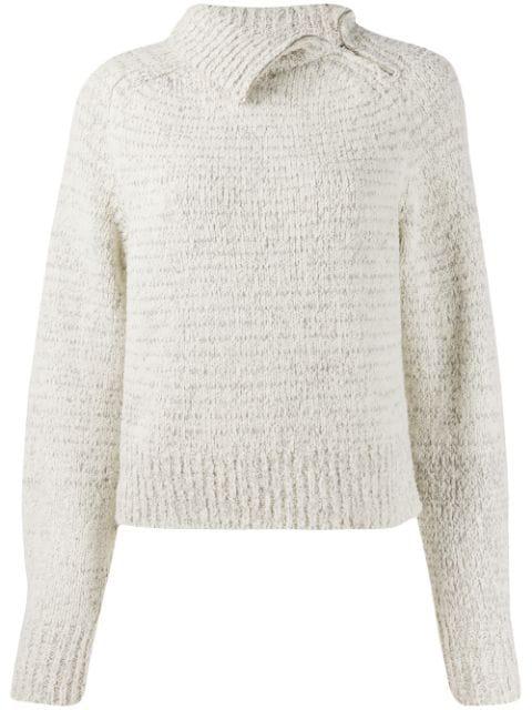 Isabel Marant Effy Wool-Blend Turtleneck Jumper In Grey