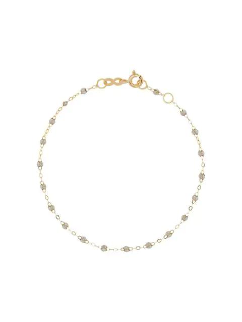 Gigi Clozeau 18k Yellow Gold 17 Cm Beaded Bracelet In Grey