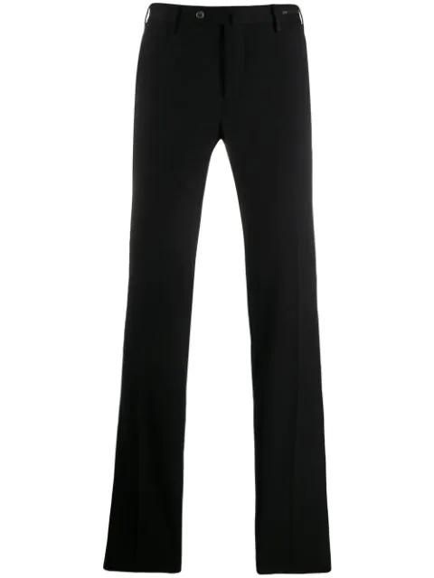 Pt01 Straight Leg Trousers In Black