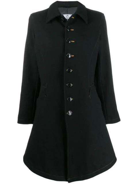 Jean Paul Gaultier Military Style Coat In Black