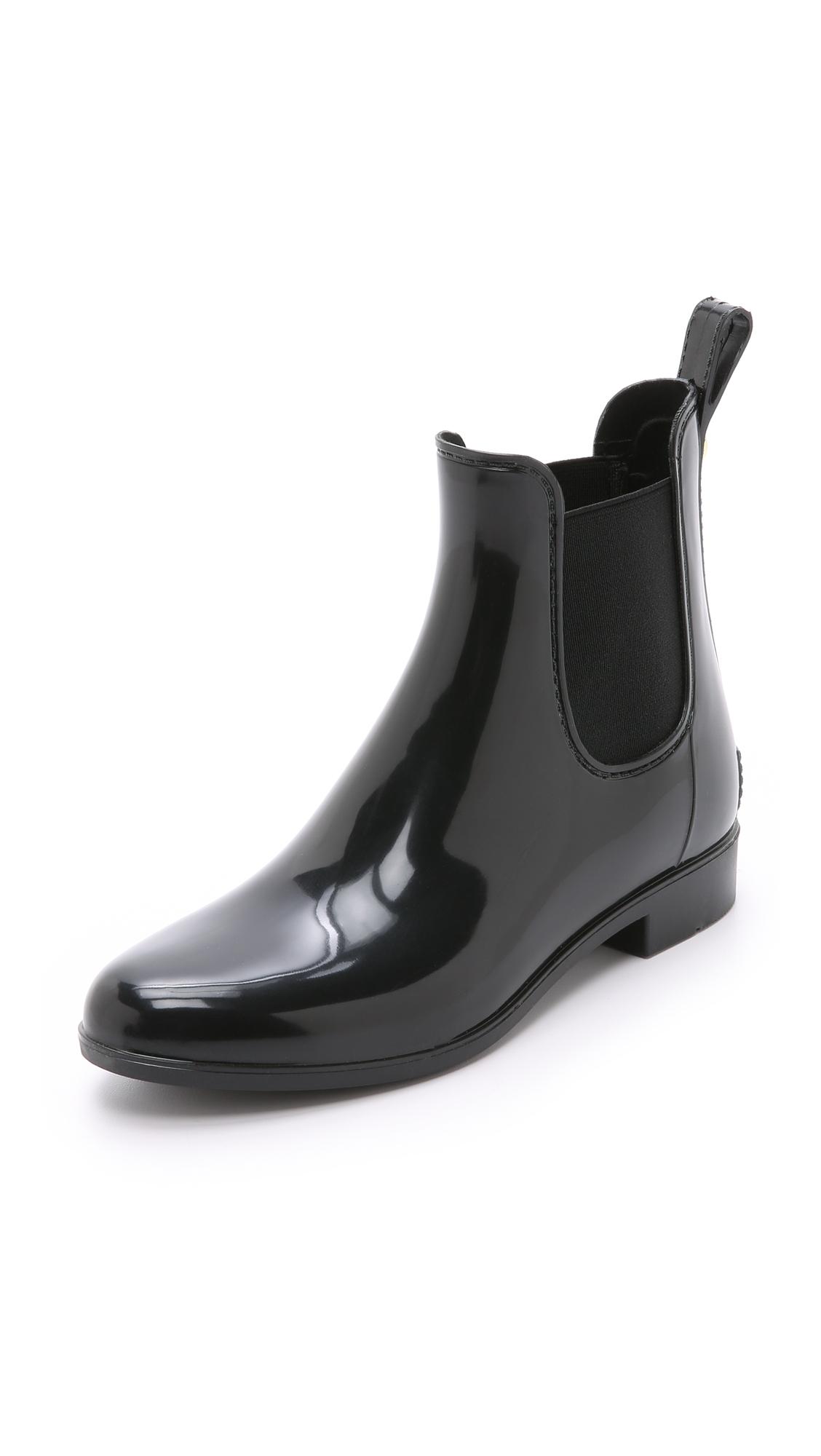 Sam Edelman Tinsley Gloss Chelsea Rain Booties In Black;Sangria/Black;Space Blue/Black