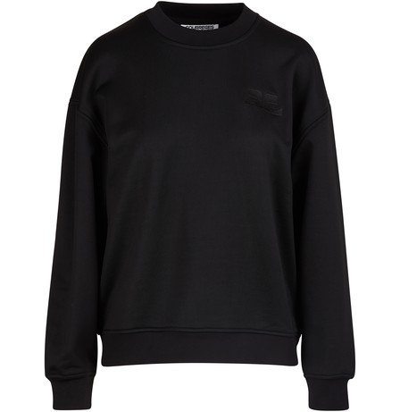 CourrÈGes Logo Sweatshirt In Black