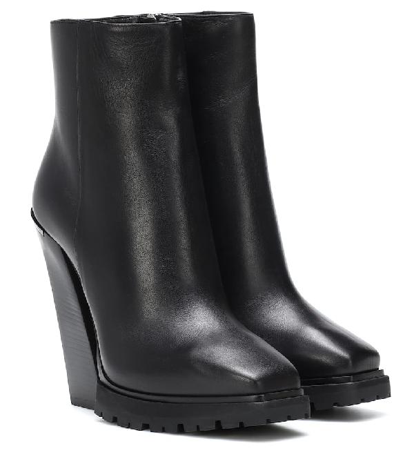 Jimmy Choo Madra 130 Black Smooth Leather Platform Ankle Boots