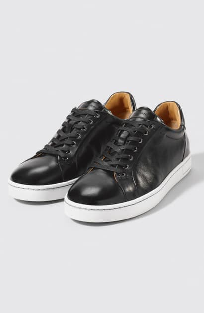 Magnanni Elonso Low Top Sneaker In Black/Black Leather