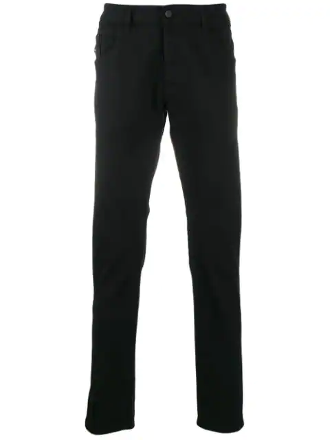 Diesel D-Bazer Straight Slim Fit Jeans In Black In 02 Black