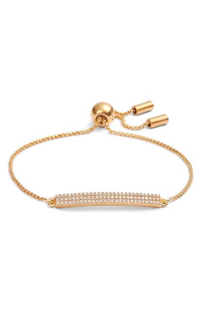 Dean Davidson Pave Bar Chain Bracelet In Gold