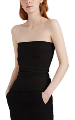 Rick Owens Cotton-Blend Strapless Bustier Top In Black