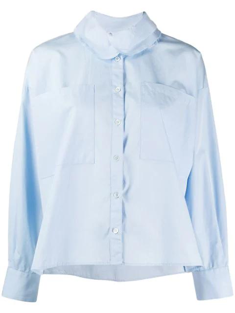 Barena Venezia Contrasting Collar Shirt In Blue