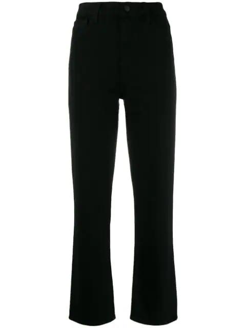 J Brand Franky Cropped Jeans In Black