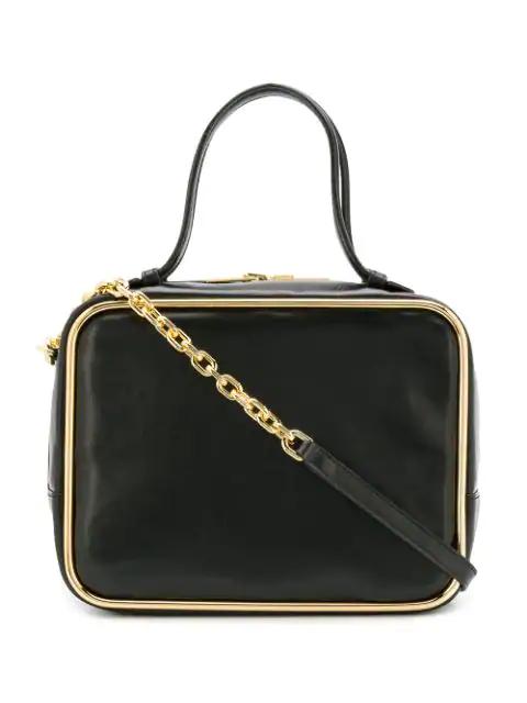 Alexander Wang Halo Leather Top-Handle Satchel Bag In Black
