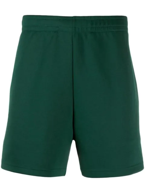 Acne Studios Face Patch Track Shorts In Green