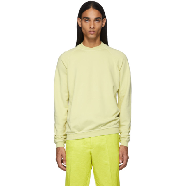 Haider Ackermann Yellow Dye Perth Sweatshirt In Perth Yello