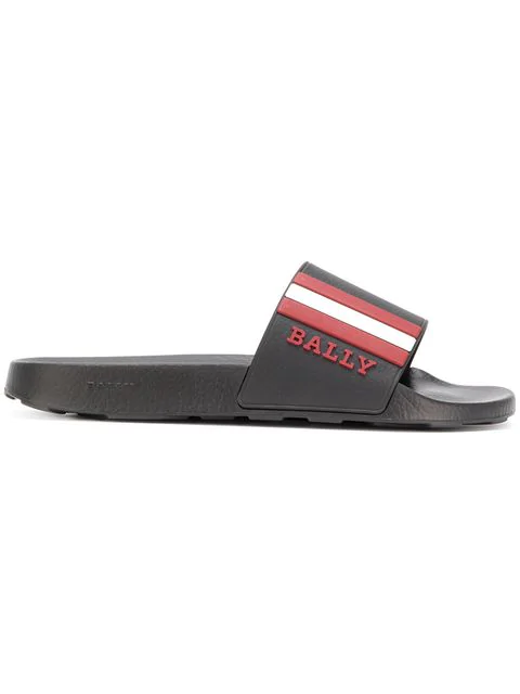 Bally Saxor Rubber Slide Sandals In 0115