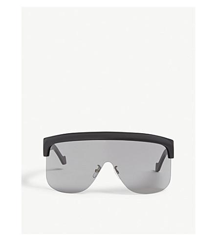 Loewe Wraparound Sunglasses In Black