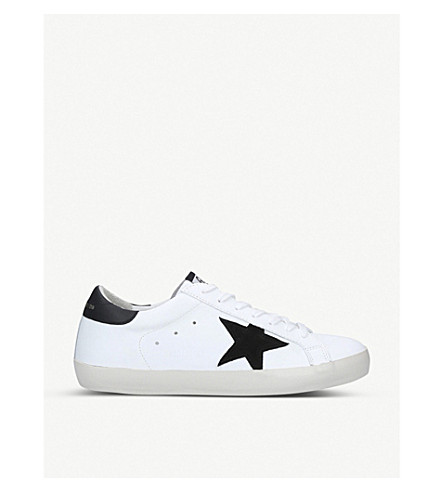 Golden Goose Superstar Low-Top Leather And Suede Trainers In Winter Wht