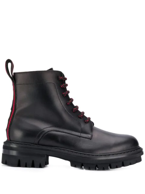 Dsquared2 Ankle Boots Evolution Tape  Calfskin Logo Black In 2124  Black