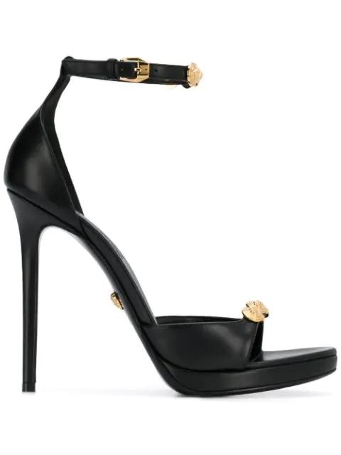 Versace First Line Medusa Stud Sandal In Black