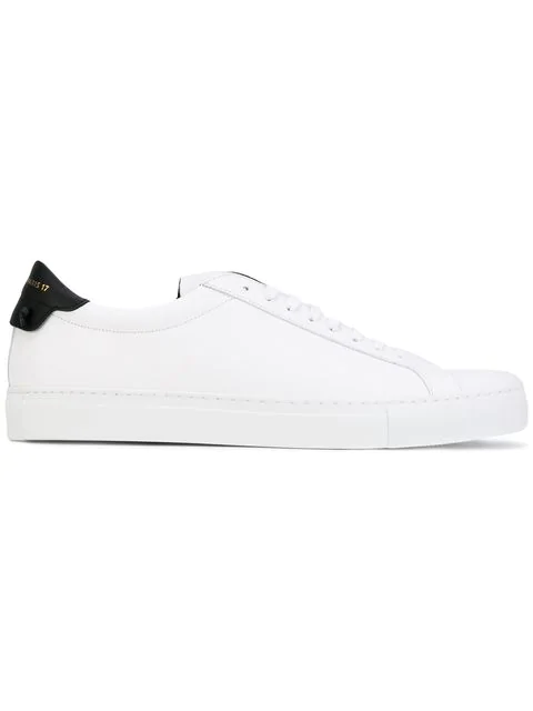 Givenchy Men's Urban Street Leather Low-Top Sneakers In 116 - White/Black