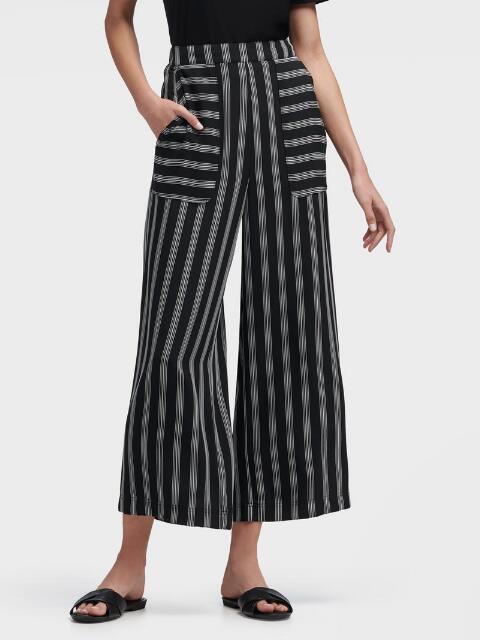 Donna Karan Wide Leg Pant In Black