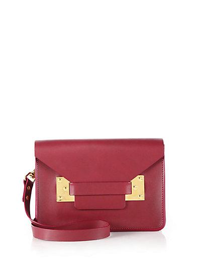 Sophie Hulme Small 'Milner' Shoulder Bag In Red