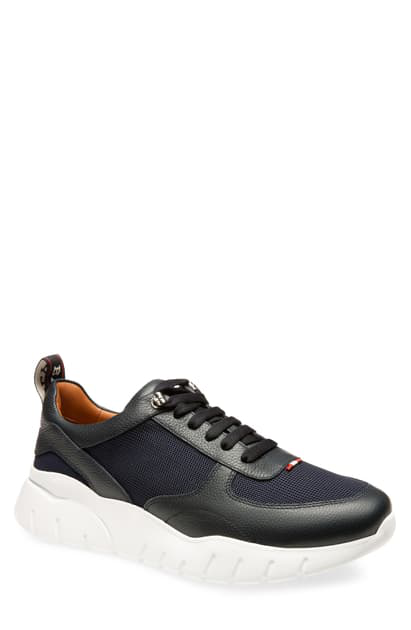 Bally Men's Biggy Mesh & Leather Chunky Running Sneakers In Blue Navy