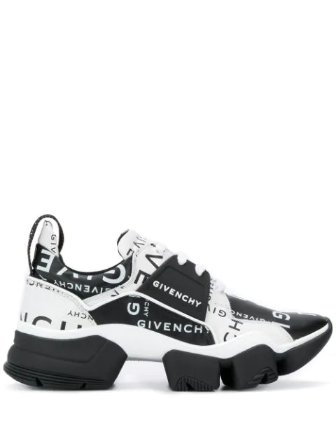 Givenchy Men's Jaw Logo-Print Two-Tone Leather Sneakers In Black
