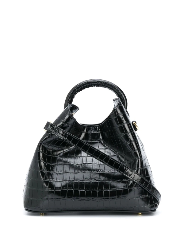 Elleme Madeleine Crocodile-effect Tote In Black