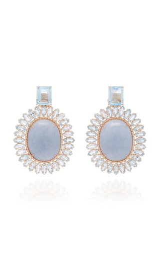 Carla Amorim Lygia Earrings In Blue