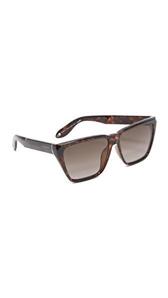 5e75b5596e11 Givenchy 58Mm Flat Top Sunglasses In Dark Havana/Brown   ModeSens
